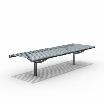 Straight Stainless Steel Bench
