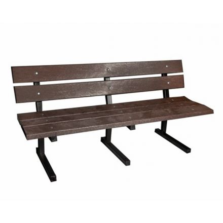 Recycled Plastic Metal Framed Bench