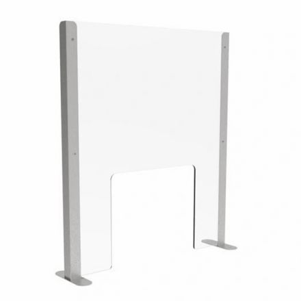 Sneeze Guard with Acrylic Screen & Stainless Steel Legs