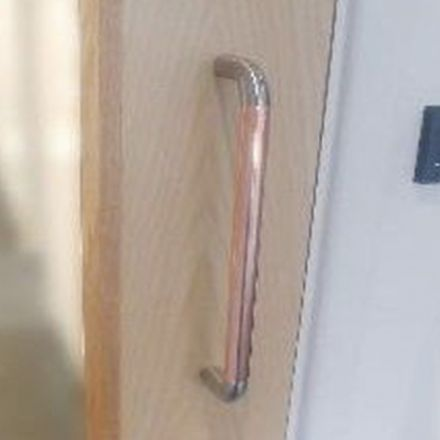 Door Pull Handle Removable Overlay Antimicrobial Copper