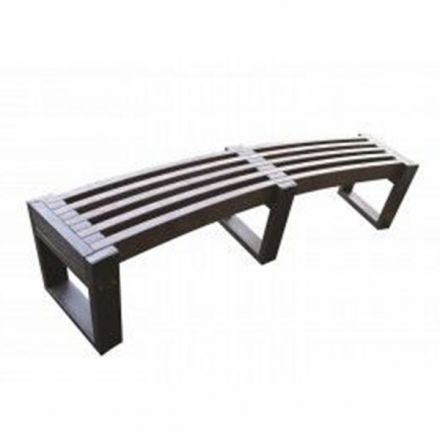 Plastic Edge Curved Bench