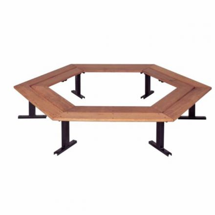 Octagon Timber Bench