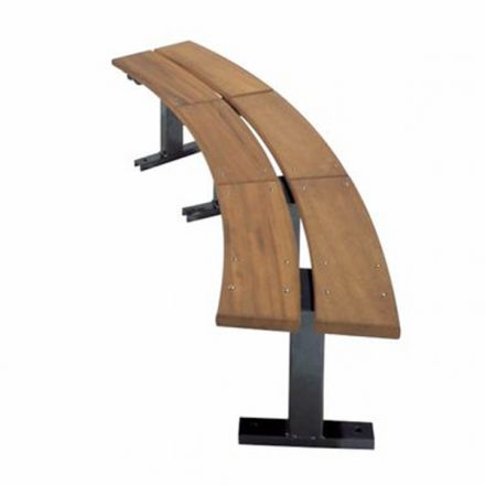 Curved Timber Bench