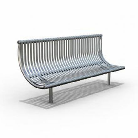 Curved Stainless Steel Seat