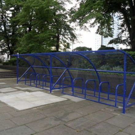 Cycle Shelter - 20 Space Shelter & bike stands