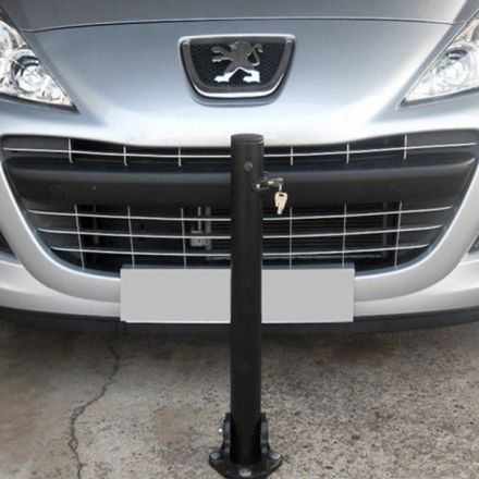 Fold Down Lockable Bollard- Black
