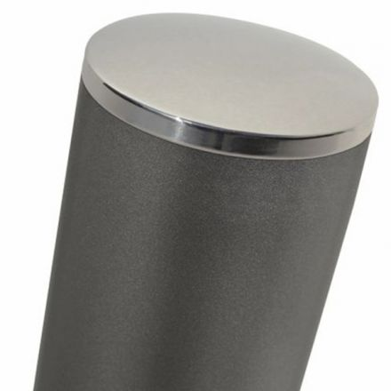 Bollard with stainless steel top