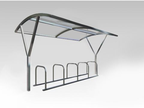 York arched canopy 10 Cycle Shelter