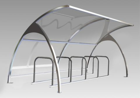 Arched Cycle Shelter