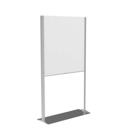 Pro Floor Standing Clear Plastic Protective Screen 6ft 180cm Tall