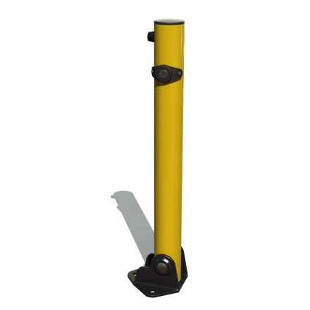 Fold Down Lockable Bollard - Yellow