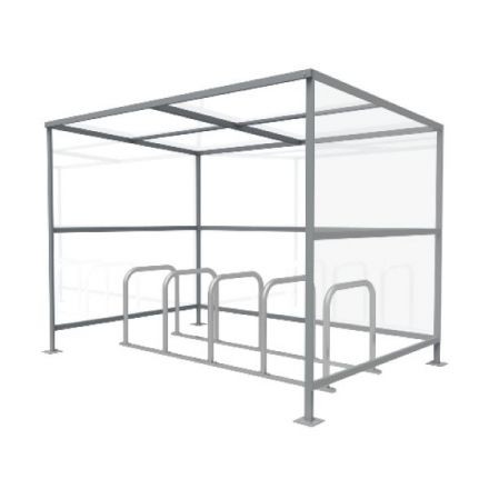 Boxster Cycle Shelter and Rack