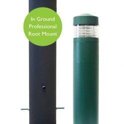 Lighthouse Bollard Light – Professional Root Mount System – Green or Black