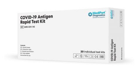 MediPort Rapid Antigen Covid-19 testing Kit 20 In a Pack