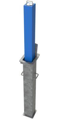 Square Telescopic Security Post (Galvanised & Powder Coated)