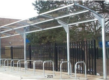 Dale Cantilever Single Row 10 Cycle Shelter
