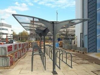Dale Cantilever Double Row 40 Cycle Shelter