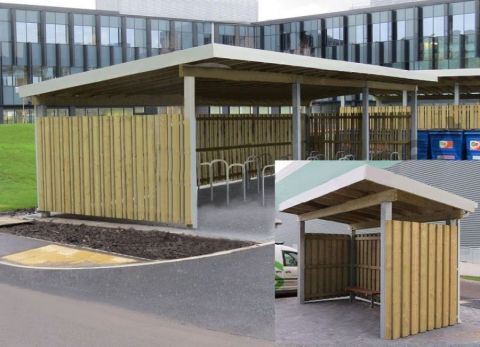 Wooden Cycle Shelter